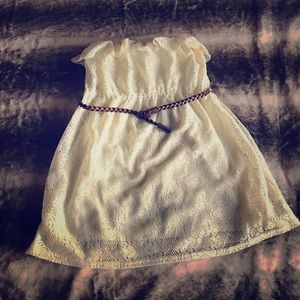 """Dresses & Skirts - Cream lacey """"cowgirl"""" dress"""